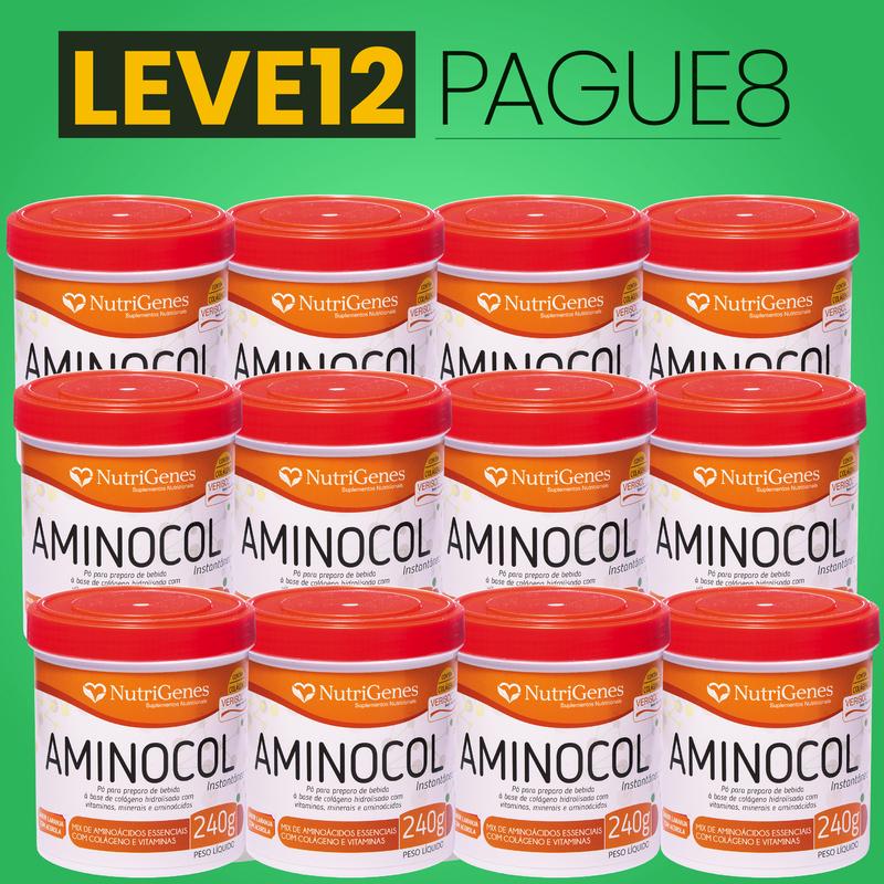 Aminocol 240 g | Nutrigenes - Leve 12, Pague 8