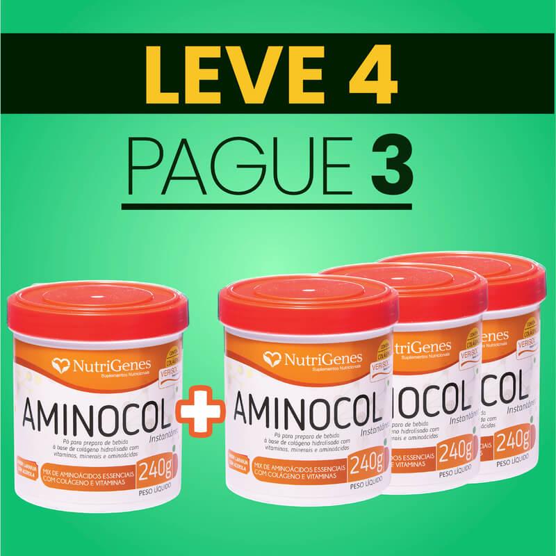 Aminocol 240 g | Nutrigenes - Leve 4, Pague 3