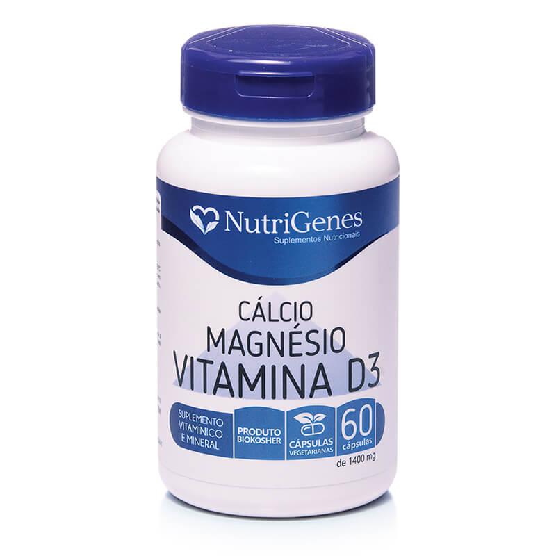 Cálcio, Magnésio e Vitamina D3 60 cápsulas | Nutrigenes