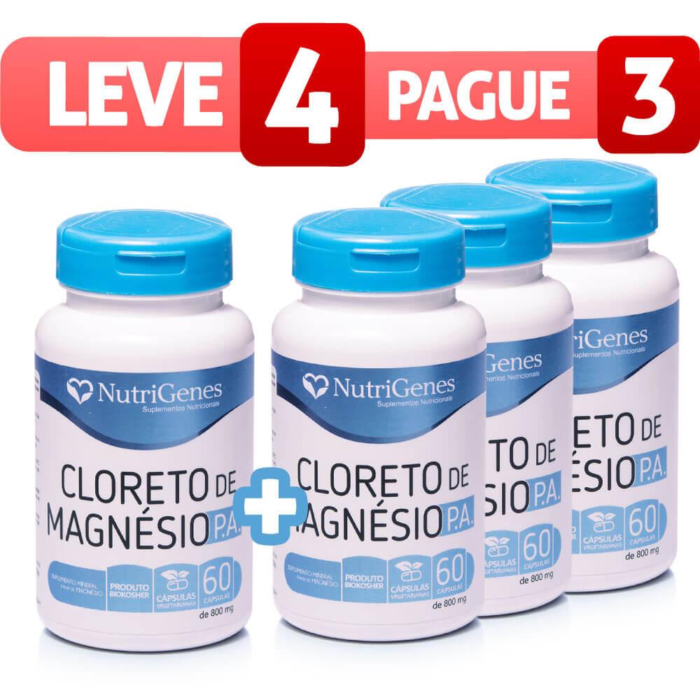 Cloreto de Magnésio P.A. 60 cápsulas | Nutrigenes - Leve 4, Pague 3