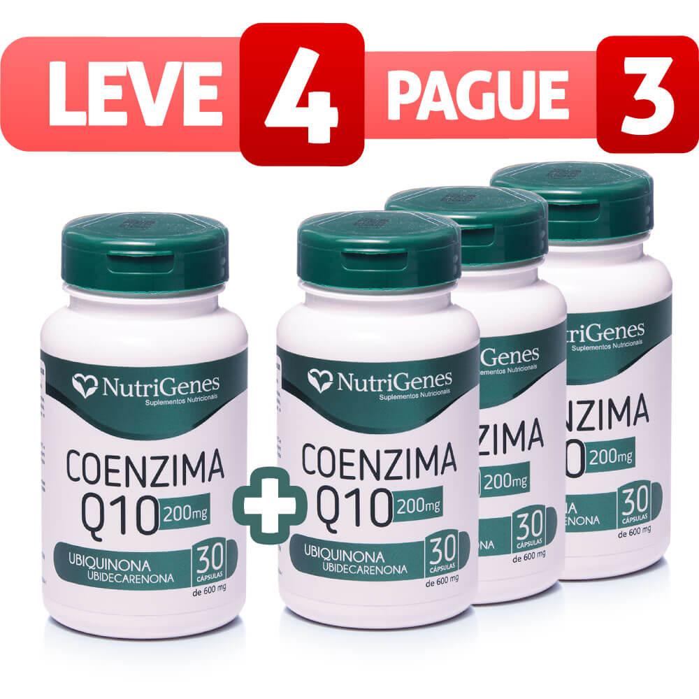 Coenzima Q10 200 mg 30 cápsulas | Nutrigenes - Leve 4, Pague 3