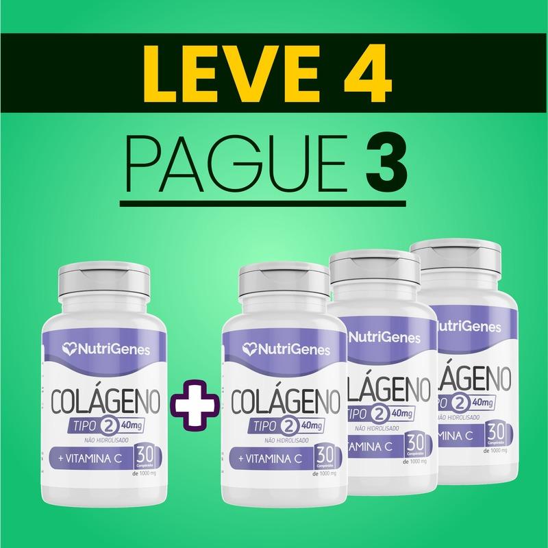 Colágeno Tipo 2 30 comprimidos | Nutrigenes - Leve 4, Pague 3