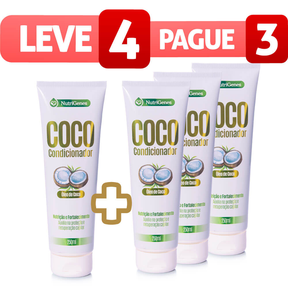 Condicionador de Coco 250ml - Leve 4, Pague 3