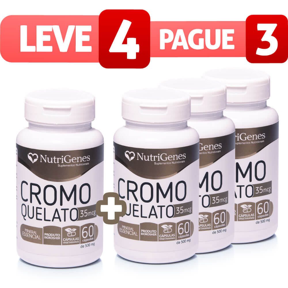 Cromo Quelato - Leve 4, Pague 3