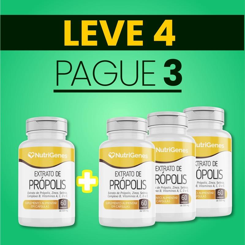 Extrato de Própolis 60 cápsulas   Nutrigenes - Leve 4, Pague 3