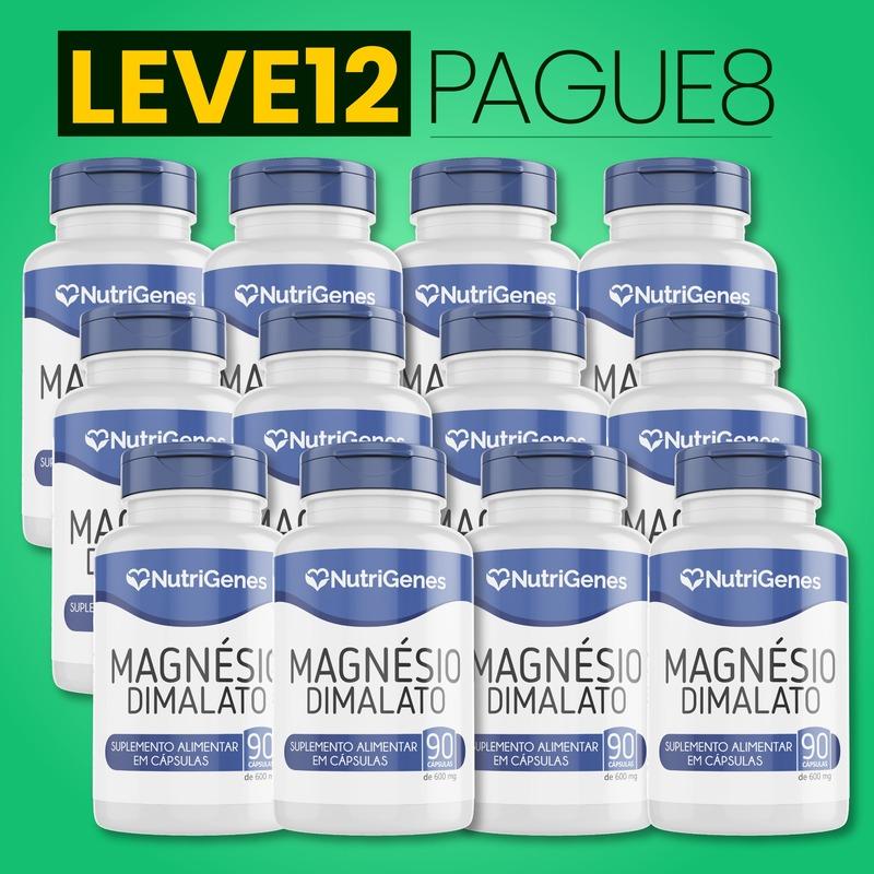 Magnésio Dimalato 90 cápsulas | Nutrigenes - Leve 12, Pague 8