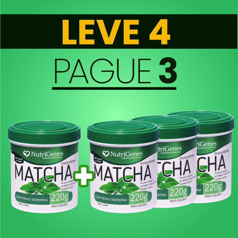 Matcha 220 g | Nutrigenes - Leve 4, Pague 3