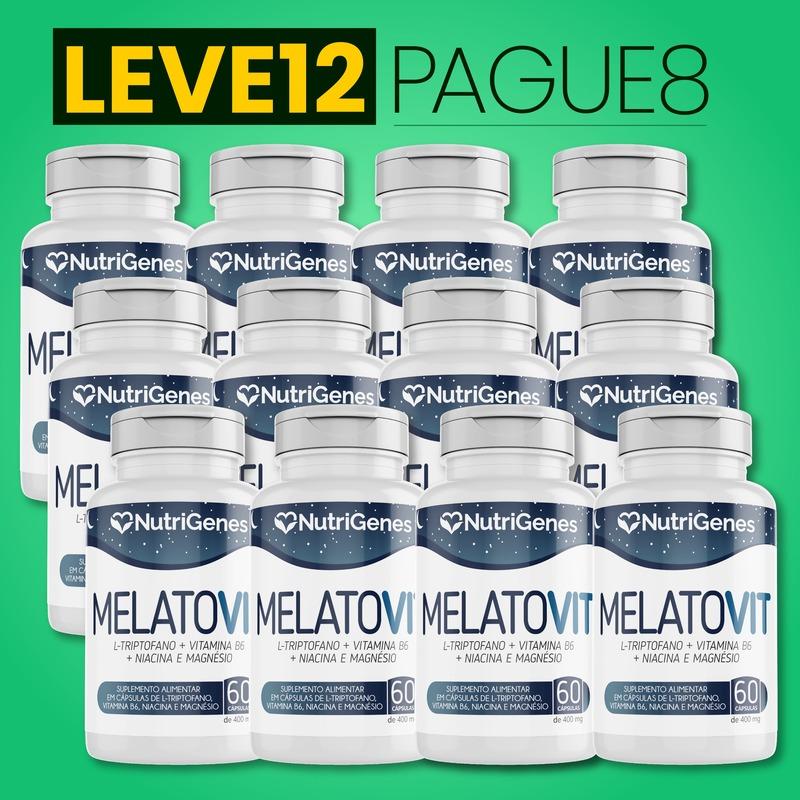 MelatoVit 60 cápsulas   Nutrigenes - Leve 12, Pague 8