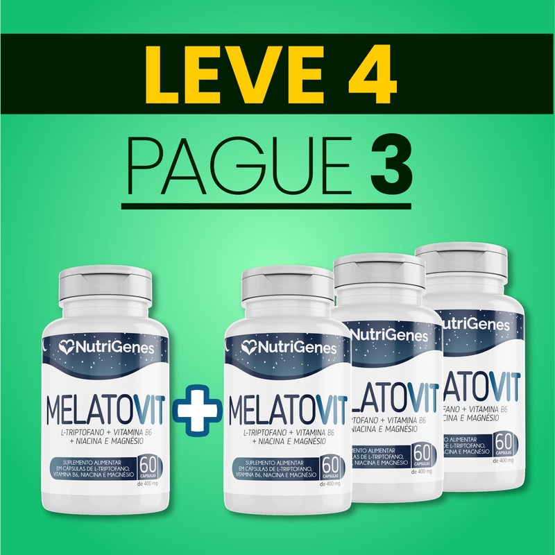 MelatoVit 60 cápsulas | Nutrigenes - Leve 4, Pague 3