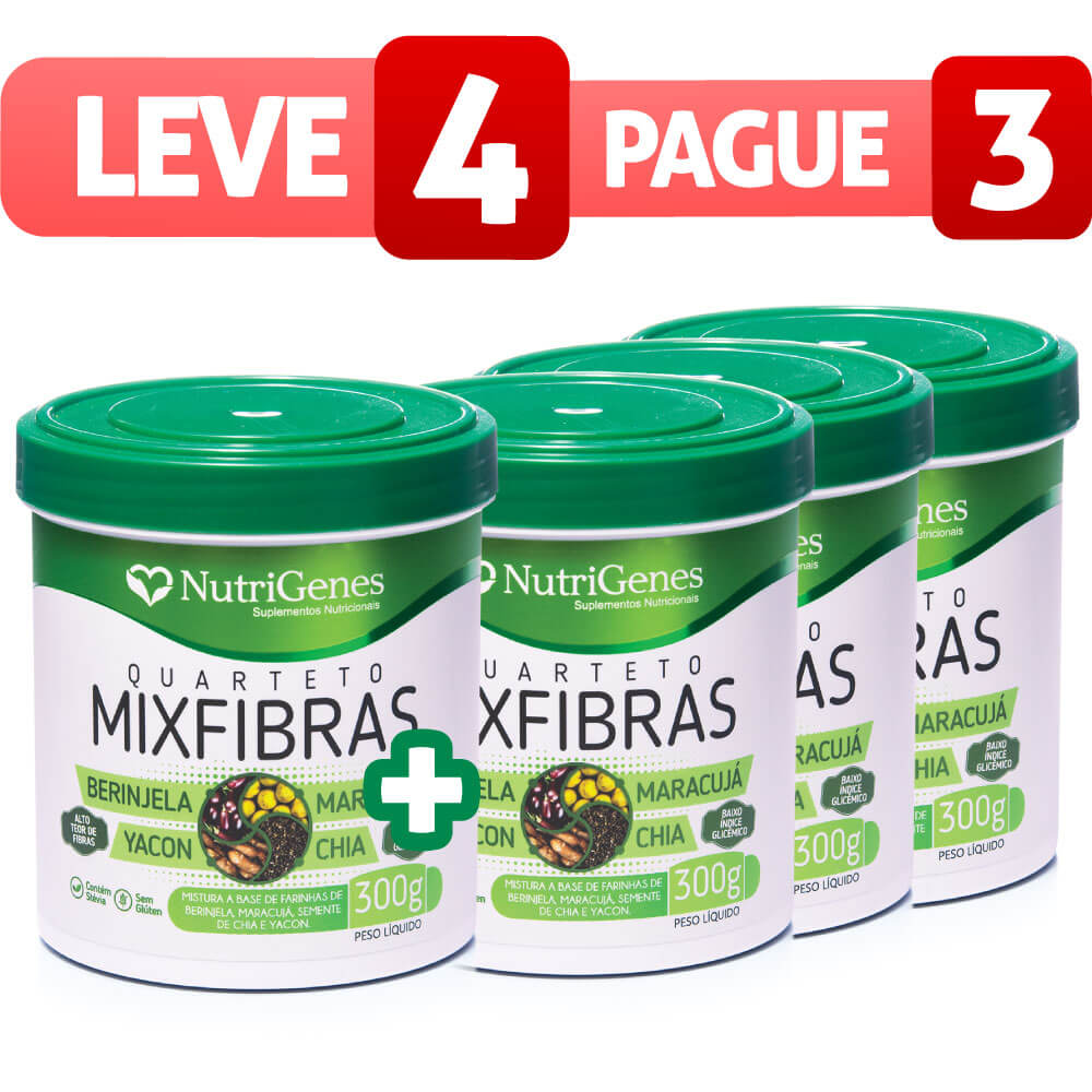 Mixfibras Quarteto - Leve 4, Pague 3
