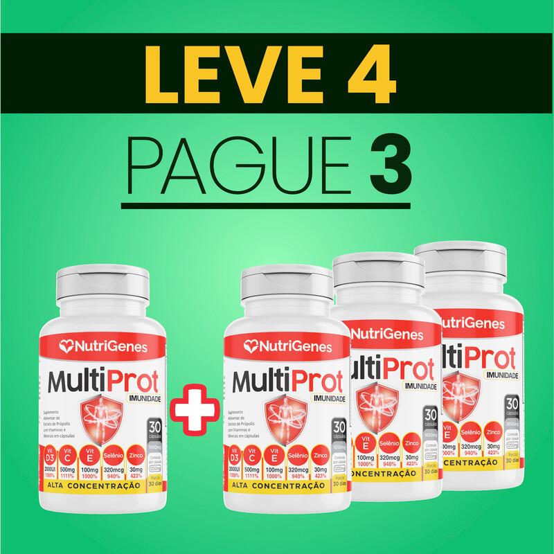 Multi Prot 30 cápsulas | Nutrigenes - Leve 4, Pague 3