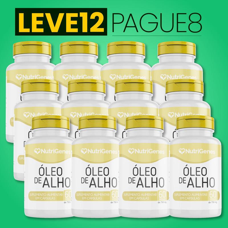 Óleo de Alho 60 cápsulas | Nutrigenes - Leve 12, Pague 8