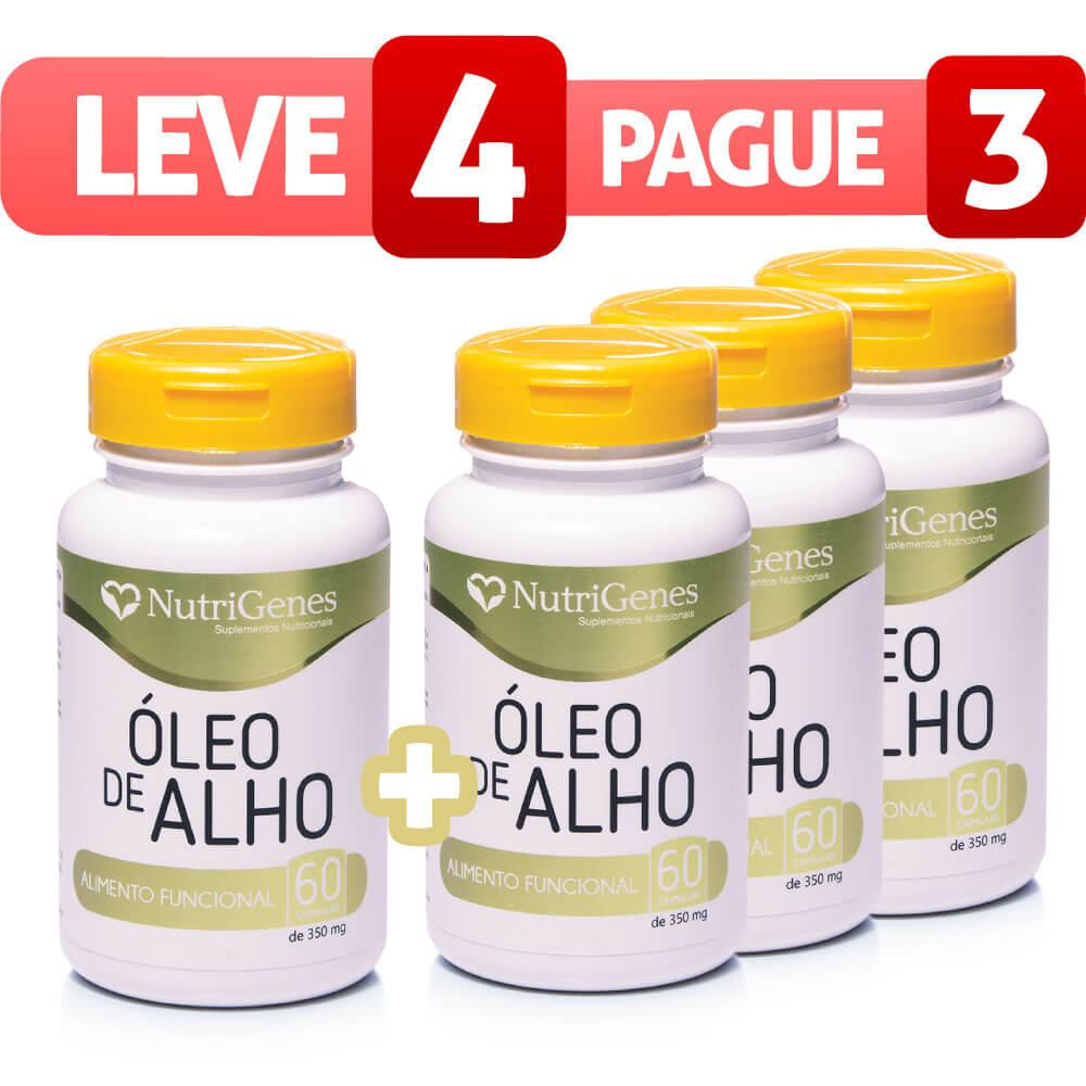 Óleo de Alho - Leve 4, Pague 3