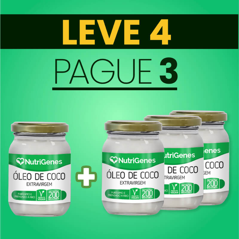 Óleo de Coco 200 ml | Nutrigenes - Leve 4, Pague 3