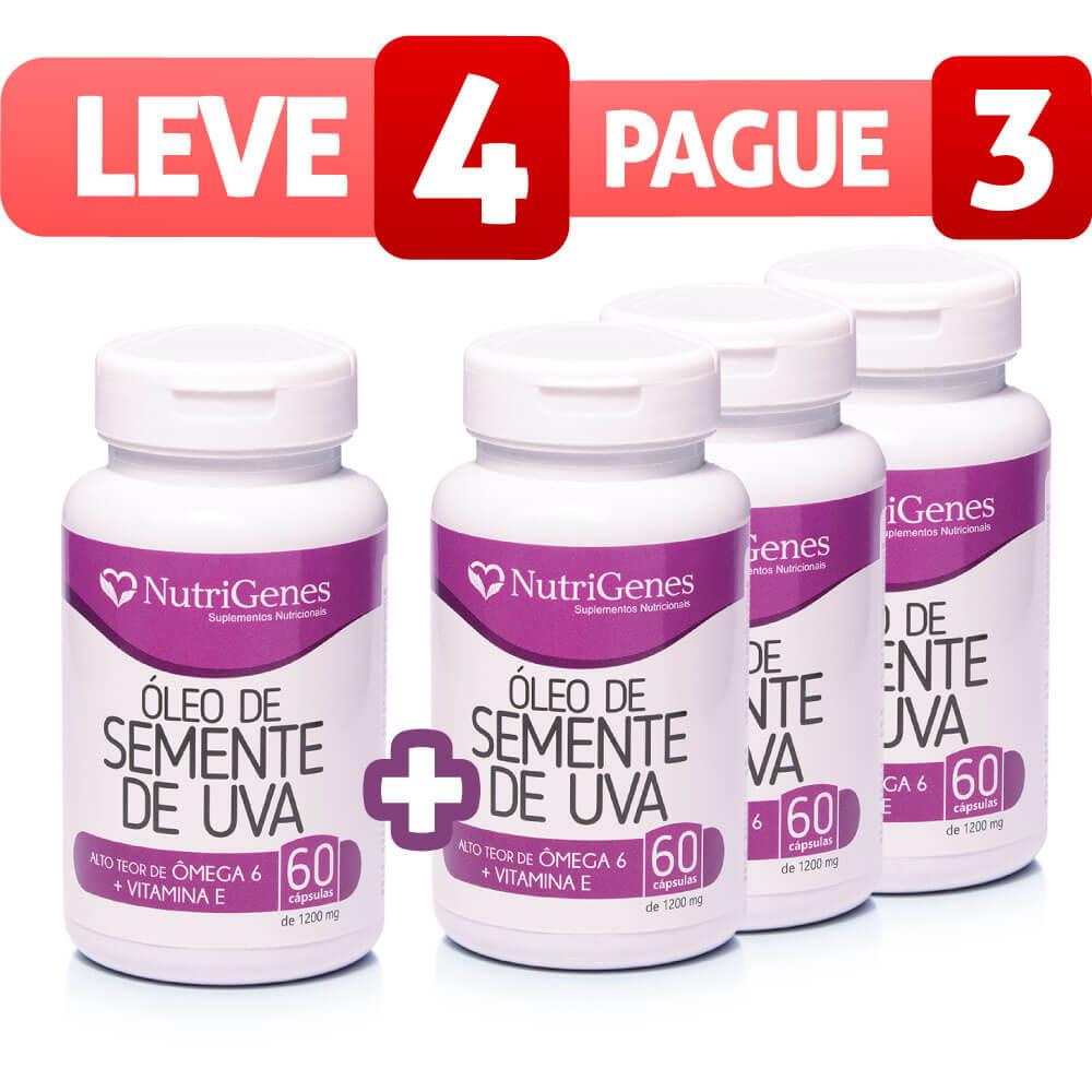 Óleo de Semente de Uva 60 cápsulas | Nutrigenes - Leve 4, Pague 3