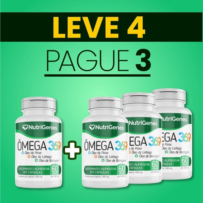Ômega 3,6,9 60 cápsulas | Nutrigenes - Leve 4, Pague 3