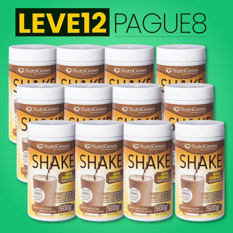Shake Sabor Chocolate 500 g | Nutrigenes - Leve 12, Pague 8