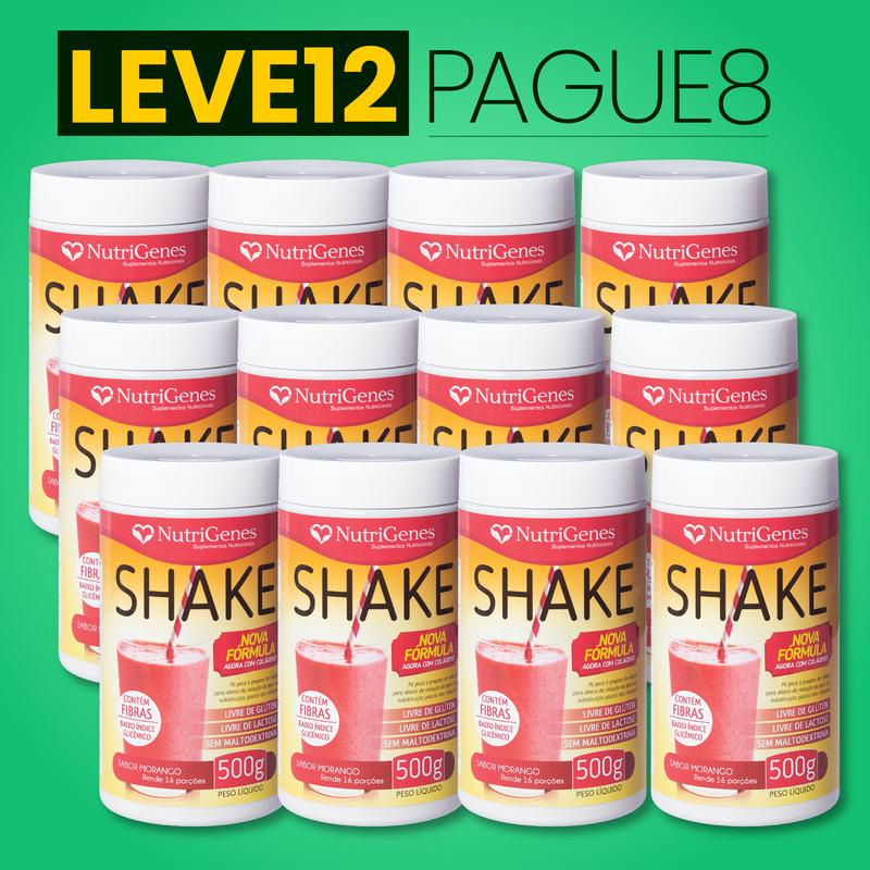Shake Sabor Morango 500 g | Nutrigenes - Leve 12, Pague 8