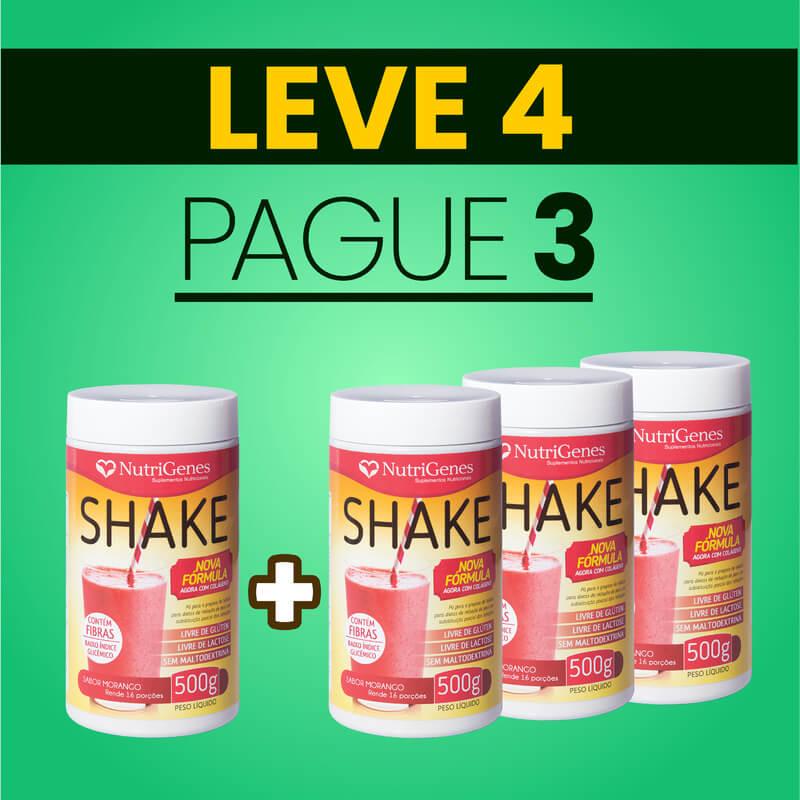 Shake Sabor Morango 500 g | Nutrigenes - Leve 4, Pague 3