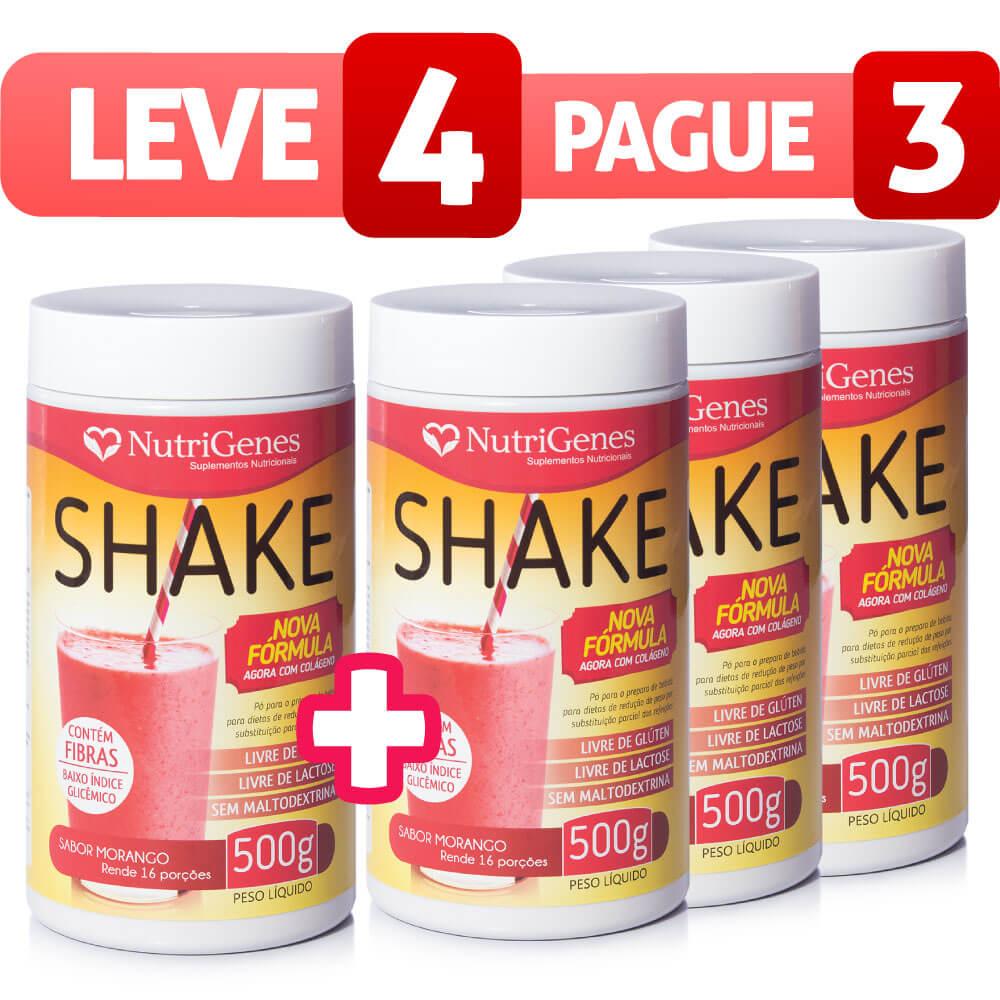Shake Sabor Morango - Leve 4, Pague 3
