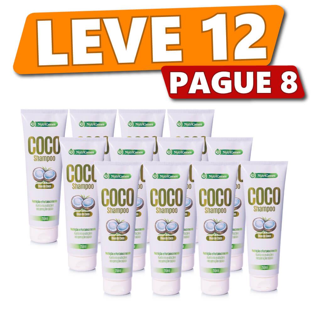 Shampoo de Coco 250ml (12 Produtos)