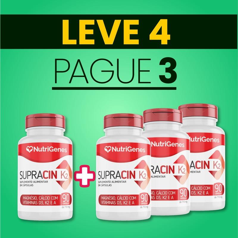 Supracin K2 90 cápsulas   Nutrigenes - Leve 4, Pague 3