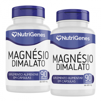 02x Magnésio Dimalato 90 cápsulas | Nutrigenes