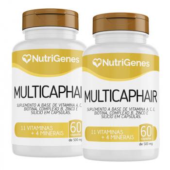 02x Multicap Hair 60 cápsulas | Nutrigenes
