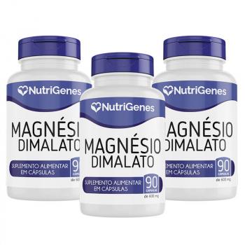 03x Magnésio Dimalato 90 cápsulas | Nutrigenes