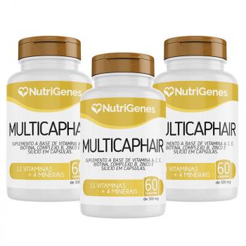 03x Multicap Hair 60 cápsulas | Nutrigenes