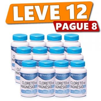 Cloreto de Magnésio P.A. 60 cápsulas | Nutrigenes - Leve 12, Pague 8