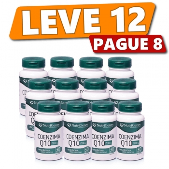 Coenzima Q10 200 mg 30 cápsulas | Nutrigenes - Leve 12, Pague 8