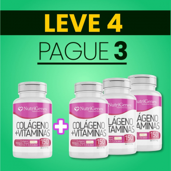 Colágeno com Vitaminas 150 cápsulas | Nutrigenes - Leve 4, Pague 3