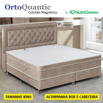 Colchão Magnético OrtoQuantic King (Kit controle top)