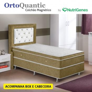 Colchão Magnético OrtoQuantic Solteiro (Kit controle top)