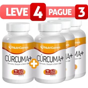 Cúrcuma+ 60 cápsulas | Nutrigenes - Leve 4, Pague 3