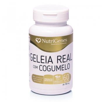Geleia Real com Cogumelo 60 cápsulas | Nutrigenes