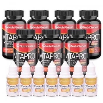 Kit 7 Potes VitaProt + Vitamina D3
