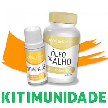 Óleo de alho + vitamina D3