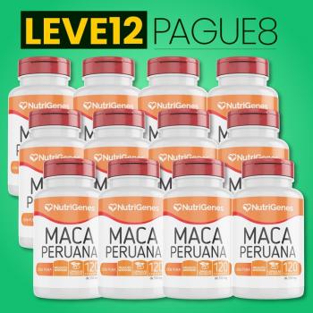Maca Peruana 120 cápsulas | Nutrigenes - Leve 12, Pague 8