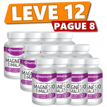 Magnésio Dimalato 120 cápsulas (12 Produtos)