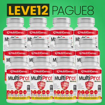 Multi Prot 60 cápsulas | Nutrigenes - Leve 12, Pague 8
