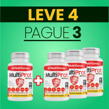 Multi Prot 60 cápsulas | Nutrigenes - Leve 4, Pague 3
