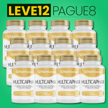 Multicap Hair 60 cápsulas | Nutrigenes - Leve 12, Pague 8