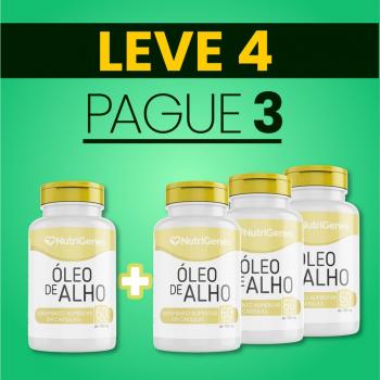 Óleo de Alho 60 cápsulas | Nutrigenes - Leve 4, Pague 3