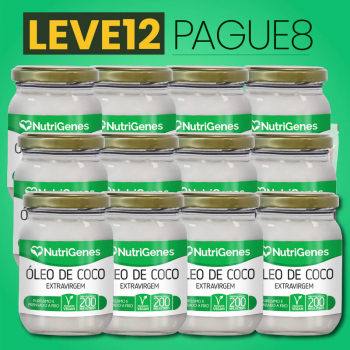 Óleo de Coco 200 ml | Nutrigenes - Leve 12, Pague 8