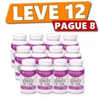 Óleo de Semente de Uva 60 cápsulas | Nutrigenes - Leve 12, Pague 8