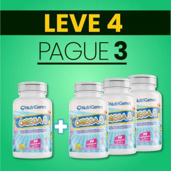 Ômega 3 Cereja 90 cápsulas | Nutrigenes - Leve 4, Pague 3