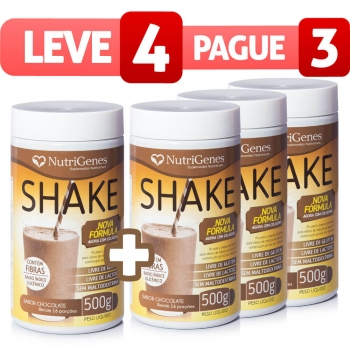 Shake Sabor Chocolate - Leve 4, Pague 3