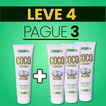 Shampoo de Coco 250 ml | Nutrigenes - Leve 4, Pague 3